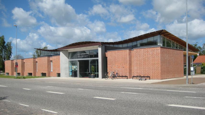 Facade på Auning Bibliotek