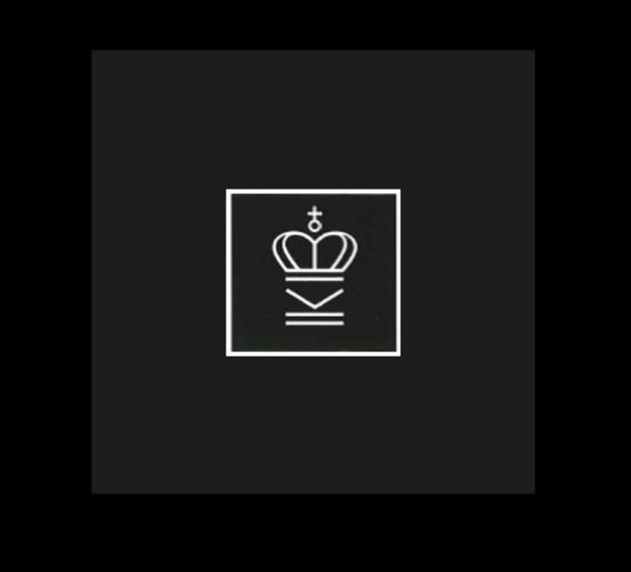 Logo for tidsskrift.dk der er illustreret ved en kongekrone på sort baggrund