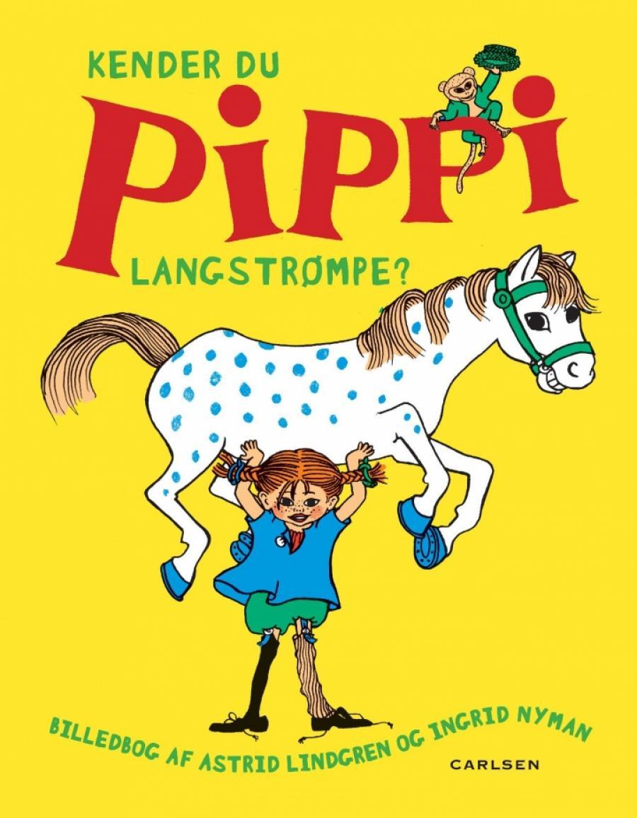 Bogforside af Pippi Langstrømpe af Astrid Lindgren